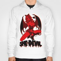 moulin rouge Hoodies featuring Diable Rouge by Chandelina