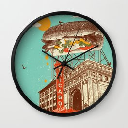 CHICAGO RED HOT Wall Clock