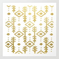 nordic Art Prints featuring GOLD NORDIC by Nika