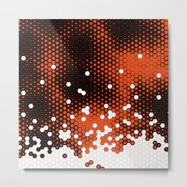 Orange Crumble Metal Print