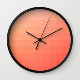 Lumen, Coral and Pink Glow Wall Clock