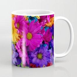 Neon Flowers at market Coffee Mug