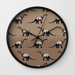 ChocoPaleo: Brontosaurus Wall Clock