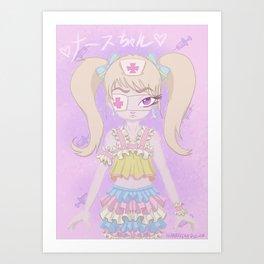 Nurse-chan Art Print
