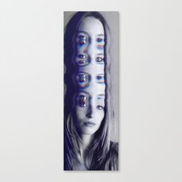Glitch Mind Melt Canvas Print