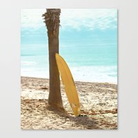 surfboard Canvas Prints featuring Surfboard by Sherman Photography