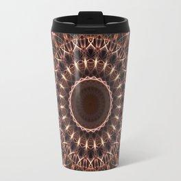 Brown and copper mandala Travel Mug