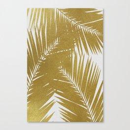 Palm Leaf Gold III Canvas Print