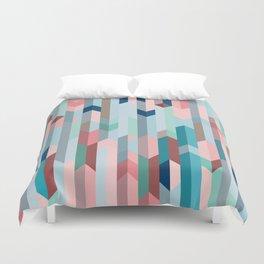 Blue & Pink Chevron Pattern Duvet Cover