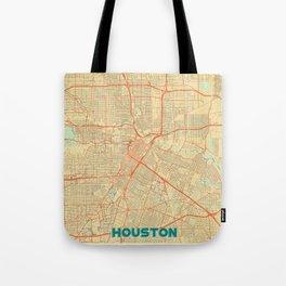 Houston Map Retro Tote Bag
