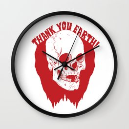 Thank You Earth Wall Clock