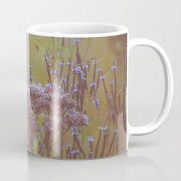 Summer Botanical Meadow Marsh with Joe Pye Weed and Blue Vervain Wildflowers Coffee Mug