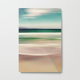 LOVE THE OCEAN IV Metal Print