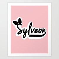 sylveon Art Prints featuring Sylveon by Papa-Paparazzi