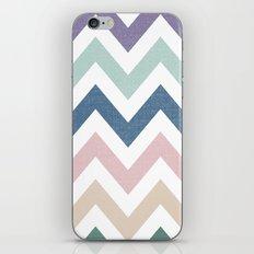 MUTED CHEVRON {COOL TONES} iPhone & iPod Skin