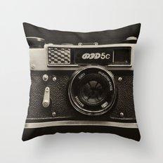 FED 5 | Vintage Camera Throw Pillow