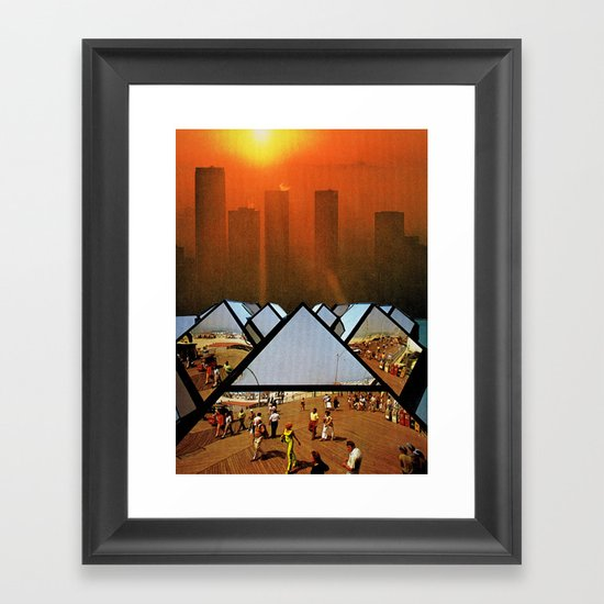 Get Real Get Right Framed Art Print