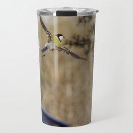 blue tit flying Travel Mug