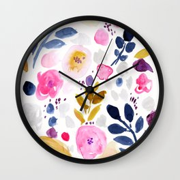Pink Affair Floral Wall Clock