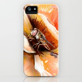 Fly on flower 8 iPhone Case