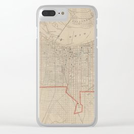 Vintage Map of Louisville KY (1880) Clear iPhone Case