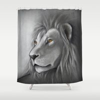 simba Shower Curtains featuring The Lion King by Puddingshades