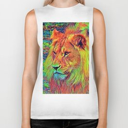AnimalColor_Lion_004_by_JAMColors Biker Tank