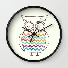 Chevron Owl Wall Clock