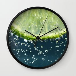 Lemony Limy Wall Clock