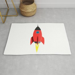 Red Rocket Blast Off Rug