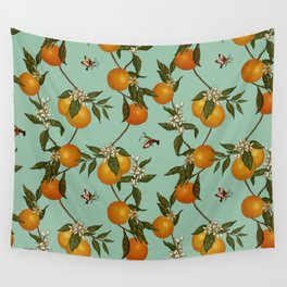 Orange Pattern I Wall Tapestry