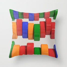 Colorful cylinders Throw Pillow
