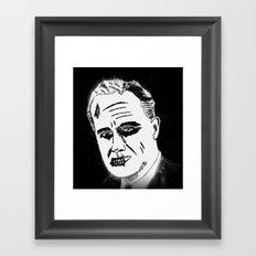 32. Zombie Franklin D. Roosevelt Framed Art Print