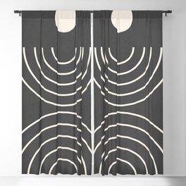 Minimal Geometric Shapes 55 Blackout Curtain