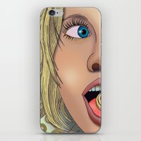 annie hall iPhone & iPod Skins featuring Annie by AdamSteve