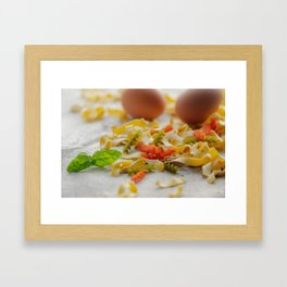 Coloful Pasta Creation Framed Art Print