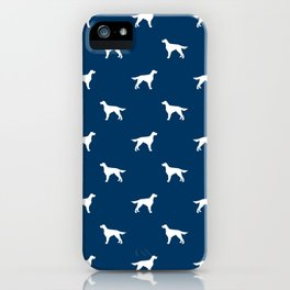 Irish Setter dog silhouette minimal dog breed pattern gifts for dog lover iPhone Case
