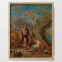 """Eugène Delacroix """"Autumn from a series of the Four Seasons (Baccus and Ariadne)"""" Serving Tray"""