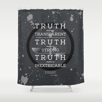 divergent Shower Curtains featuring Candor Manifesto by Tiffany 10