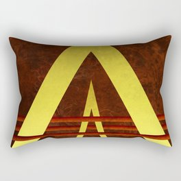 Golden Triangles Rectangular Pillow