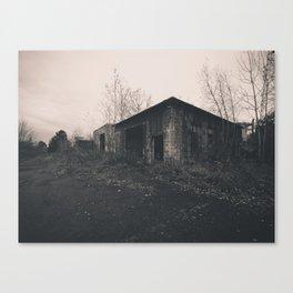 Abandoned Building B&W Canvas Print