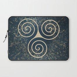 Triskelion Golden Three Spiral Celtic Symbol Laptop Sleeve