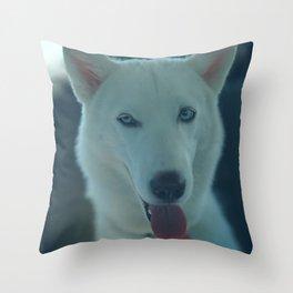 Silly Luna Throw Pillow