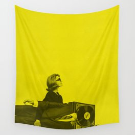 Portable Record Player Wall Tapestry