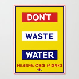 Don't Waste Water -- WPA Canvas Print