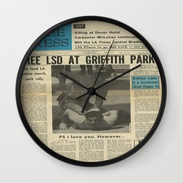 Free LSD in Griffith Park Wall Clock