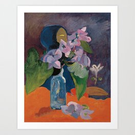Paul Gauguin - Still Life with Flowers and Idol (1892) Art Print