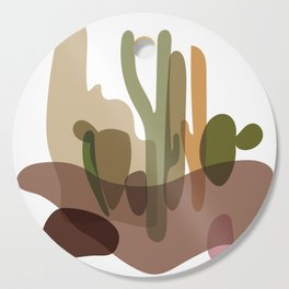 Abstract Desert Cactus Landscape Cutting Board