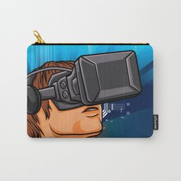 illustration of man  with headset glasses Carry-All Pouch