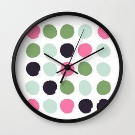 Painted dots minimal colorful pattern polka dots nursery baby decor Wall Clock